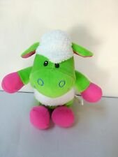 Sugarloaf Coinstar Green Pink White Lamb Sheep Plush Stuffed Animal Toy Lovey