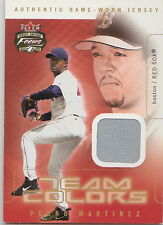 PEDRO MARTINEZ GAME WORN BOSTON RED SOX USED JERSEY FLEER 2003 TRADING CARD METS
