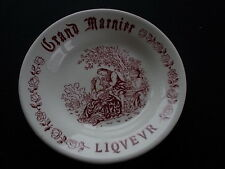 Vintage Grand Marnier Liqeur Advertising Dish Pottery Ceramic Transfer Printed