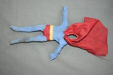 "Vintage Mego SUPERMAN Suit Clothes for 8"" Tall Action Figure, 1970s DC Comics"