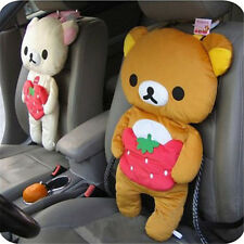 2pcs/set Head Rest Plush Rilakkuma Pillow Car Back Cushion Soft Car Seat Cover