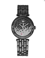 $495 Juicy Couture Women's Cali Crystal-Accented Black Bracelet Watch NWT 34mm