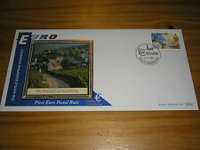 """1999 BENHAM """"Euro"""" Postal Rate First LUXEMBOURG Stamp FDC Cover LUXEMBOURG Pmark"""