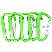 "50 PCS - 2.25"" GREEN CARABINER SPRING D BELT CLIP KEY CHAIN ANODIZED ALUMINUM"