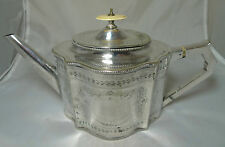 Victorian Georgian Style Silver Plated Teapot Hawksworth Eyre & Co 1850 - 1873