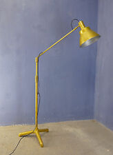 Vintage industrial 1950 1960 travail studio photo métal lampadaire spotlight
