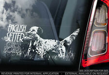 English Setter - Car Window Sticker - Dog Sign -V01