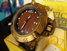 Invicta 19642 50mm Subaqua Noma III Swiss Wooden Dial Silicone Strap Watch NEW!!