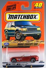Matchbox MB 40 Dodge Concept Car Orange Bronze Mint On Card 1999