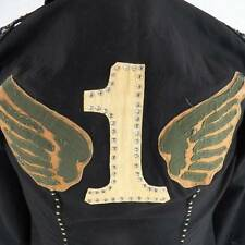 Tag + Vintage Couture Men's Medium Large Black Jacket Stagewear Rock Studs