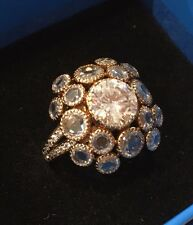 Sterling Silver JEAN DOUSSET Absolute Bezel Set CZ Ring Sz 6