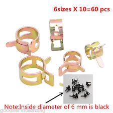 60pcs 6 Sizes Spring Clip Fuel Oil Water Hose Pipe Tube Clamp Fastener 6-15mm