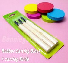 Rubber Stamp Carving Block and Carving Knife For Basis DIY Carving Rubber Stamp