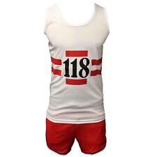 Children's 118 Vest And Short Set 5-10 years Fancy Dress With Free 118 Mustaches