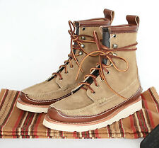 YUKETEN MAINE $719 guide db shoes khaki suede leather welted sole boots 6-US NEW