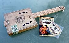 "Electric ""Blues Box"" 3 cuerdas guitarra caja de cigarro, diapositiva, CD y libro de instrucciones"