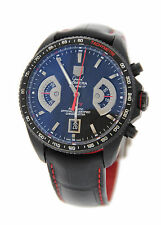 Tag Heuer Grand Carrera Cal 17 Chronograph Black Titanium Watch CAV518B
