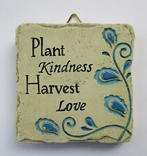 b Plant Kindness harvest Love MINI PLAQUE fairy garden stepping stone Ganz