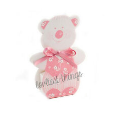 5 x Teddy Bear Baby Girls Wedding Christening Kids Party Favour Sweet Gift Box