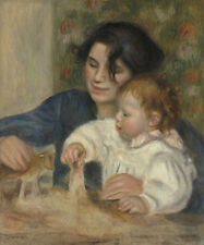 Gabrielle and Jean Pierre-Auguste Renoir Mutter Kind Baby Spielen B A3 03102