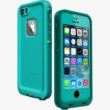 NEW LifeProof FRE Water Dust Proof Hard Case iPhone 5 & iPhone 5s SE Blue/Aqua