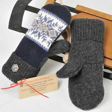 Sweater Mittens Upcycled / Recycled Felted Wool Fleece Lined Handmade USA Angora