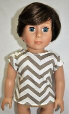 """American Girl Doll Our Generation Journey Girl 18"""" Boy Dolls Clothes T-Shirt"""