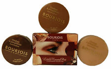 BOURJOIS LITTLE ROUND POT BROWN SMOKEY EYESHADOW SET - 3 X EYE SHADOW - MIRROR