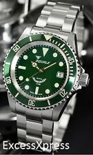 "Brand New Squale Y1545 20 Atmos ""Mint"" Green Watch Warranty Swiss Made"