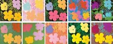 "ANDY WARHOL (1928-1987) COMPLETE SET OF 10 ""FLOWERS"" SILKSCREENS..RARE!"