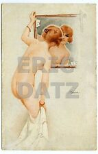 Postcard~sexy nude pin-up girl by Suzanne Meunier, Les Seins..., Paris a13786