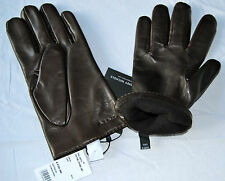 BNWT PAUL SMITH Men's Brown Leather Plain  Gloves Was £120.00