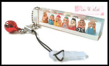 'Shichifukujin' 7 Seven Lucky Gods Acrylic Cubic Bell Phone Charm Strap