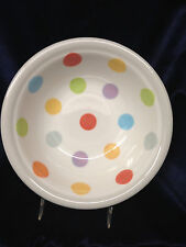 "VILLEROY & BOCH BONJOUR COUPE SOUP BOWL 8 1/4"" MULTI-COLOR POLKA DOTS"