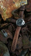 Luxury Vintage Brown Italian Calf Leather Watch Strap for Panerai - 24mm