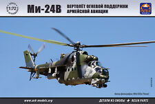 ARK MODELS 72038 RUSSIAN ATTACK HELICOPTER MI-24V SCALE MODEL KIT 1/72 NEW