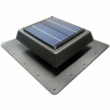 Acol Black EZYLITE SOLAR ROOF VENT FAN for Skylights & Roof Windows 150mm