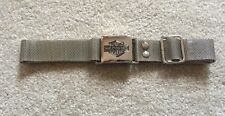HARLEY DAVIDSON CHROME SILVER MESH METAL ADJUSTABLE BELT 18 - 30 INCH