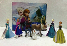 DISNEY BULLYLAND BULLY FROZEN SERIE COMPLETA 7 FIGURE COMPLET SET 7 PIECES