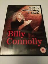 Billy Connolly Live - Was It Something I Said? (DVD, 2007) region 2 uk