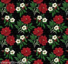 Stoff Joyeux Noel Blumen Black Patchworkstoffe Weihnachten Patchwork 25cmx110cm