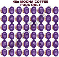 48x NESCAFE DOLCE GUSTO MOCHA CHOCOLATE COFFEE ONLY PODS (NO MILK CAPSULES)