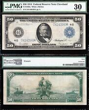 AWESOME *SCARCE* Bold & Crisp VF++ 1914 $50 CLEVELAND FRN Note! PMG 30! D4140549