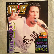 HM RIVISTA 138/93 FAITH NO MORE THUNDER STAGE DOLLS BOLT THROWER CANNIBAL CORPSE