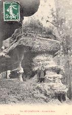 VAL-ET-CHATILLON roches du bajeu éd cayet timbrée 1908