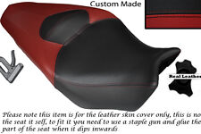 DARK RED AND BLACK CUSTOM FITS HONDA VFR 1200 F 09-13 DUAL LEATHER SEAT COVER