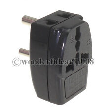 INDIA 3 Multi Outlet Type D Electrical Power Plug Travel Adapter