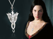 Famous LOTR Lord Of The Rings Hobbit Arwen Silver Evenstar Pendant Necklace Gift