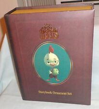 DISNEY movie CHICKEN LITTLE FIGURE CHRISTMAS STORYBOOK ORNAMENT BOX SET