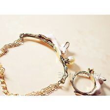 1 Pc Fashion Mini Rabbit Metal Bracelet Elegant Gold Chain Bangle Women Jewelry
